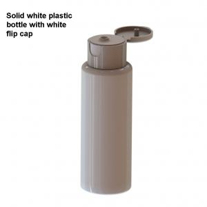large image of 60ml white plastic bottle with flip cap for hand sanitiser