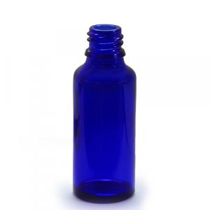 B50BG - 30ml Blue Glass Bottle - Large
