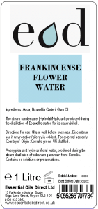Large image of Frankincense Essential Oil Flower Water 1 Litre FRA1H