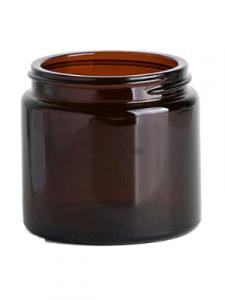 J120AG - 120ml Amber Glass Candles and Cosmetics Jar - Large