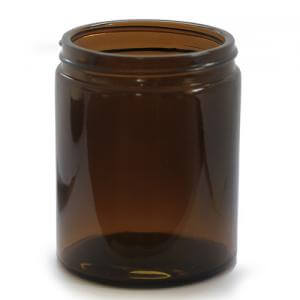 J180AG - 180ml Amber Glass Candles and Cosmetics Jar - Large