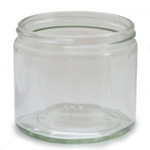 J250CG - 250ml Clear Glass Jar - Large