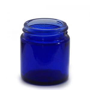 J30BG - 30ml Blue Glass Jar - Large