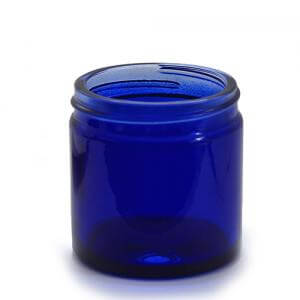 J60BG - 60ml Blue Glass Jar - Large