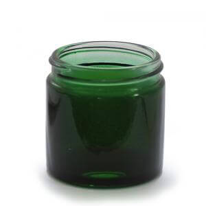 J60GG - 60ml Green Glass Jar - Large