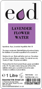 Large image of Lavender Essential Oil Flower Water 1 Litre LAV1H