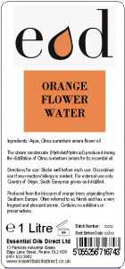 Large image of Orange Flower Essential Oil Flower Water 1 Litre ORA1H