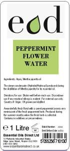 Large image of Peppermint Essential Oil Flower Water 1 Litre PEP1H