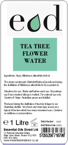Large image of Tea Tree Essential Oil Flower Water 1 Litre TEA1H