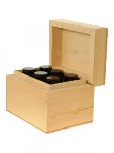 Big image of  Essential Oil Aromatherapy Gift Set - (Wooden Box + 6 Oils)