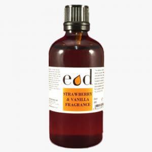 Large image of Strawberry & Vanilla Allergen Free Fragrance 100ml - STR100F