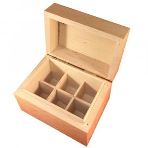 Large image of wooden essential oil storage box 6HOLE