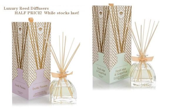 reed diffuser and scented candle half price offer