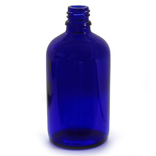 Essential Oils Direct 100ml Blue Glass Bottles With Caps