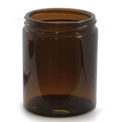 180ml Amber Glass Jar For Candles Creams Gels And